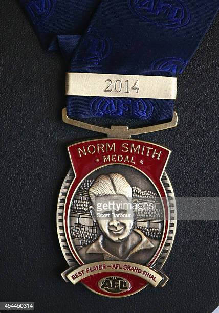 The Norm Smith Medal which is the award given in the AFL Grand Final to the player adjudged to have been the best player in the match on display...