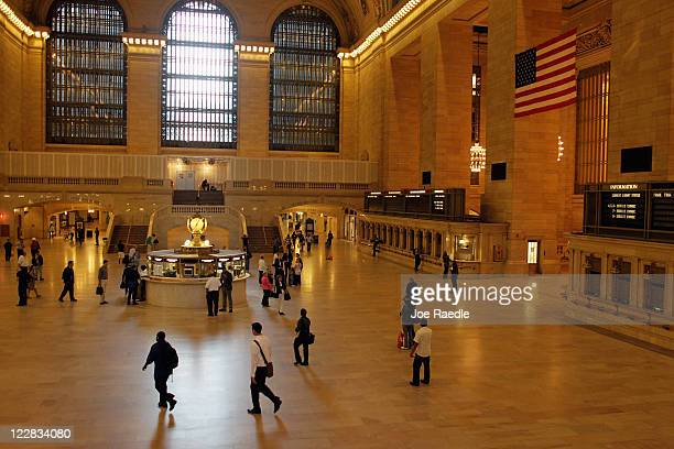 The normally bustling beginning of rush hour is seen at Grand Central station as the city continues to try to get back to normal one day after...