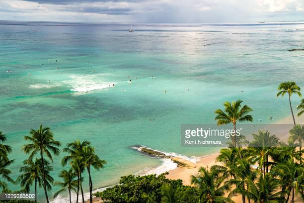 The normally packed stretch of Wakiki Beach has seen much less travelers since the onset of the Coronavirus pandemic, on the southern shore of the...