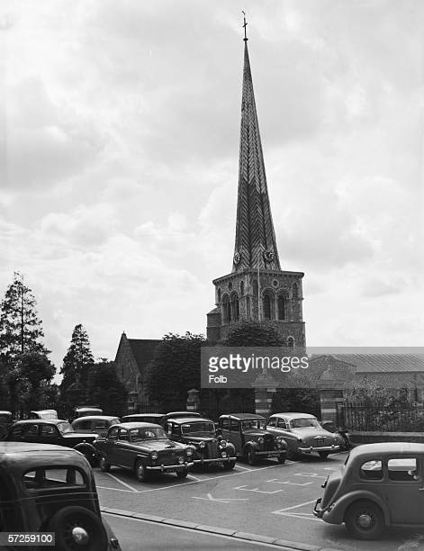 The Norman church of St Mary in Hemel Hempstead Hertfordshire 29th August 1956