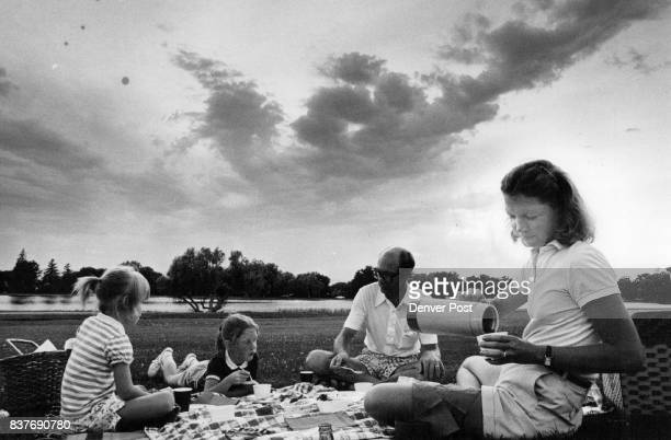 The Norman Wayland family Andrea Stephanie Wayland and Barbi enjoys a sunset and a catered gourmet picnic at Washington Park Denver's thirdlargest...
