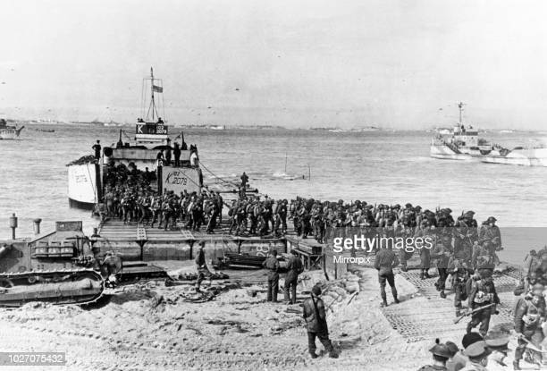 The Normandy landings were the landing operations on Tuesday 6 June 1944 of the Allied invasion of Normandy in Operation Overlord during World War II...