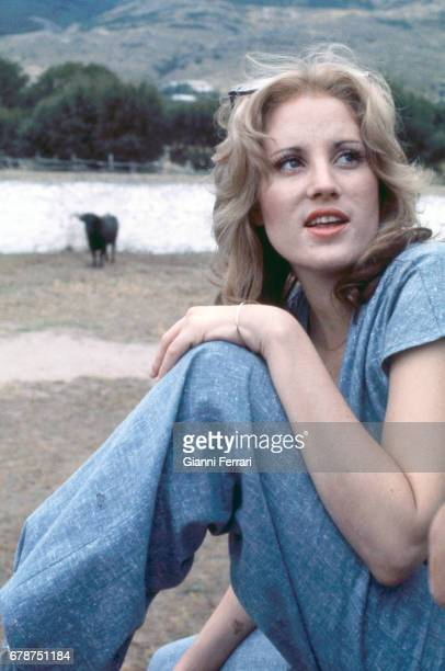 The North American actress Lorna Luft Madrid Spain