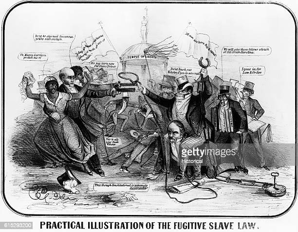 The North and South continue the battle over the fugitive slave law
