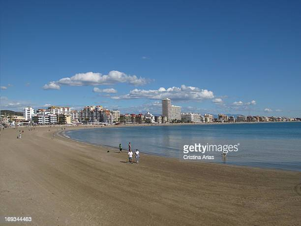 The North beach of Peniscola Castillon Valencian Comunity Spain April 2012