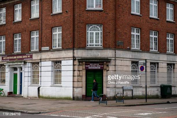 The North Brixton Islamic Cultural Centre on January 2 2020 in London England AntiIslamic slogans have been painted on a building near a mosque in...