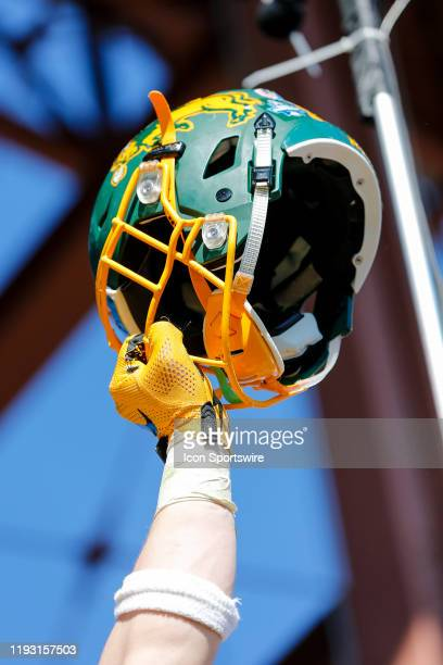 The North Dakota State Bisons celebrate winning the NCAA Division I Football Championship Game between the North Dakota State Bison and the James...