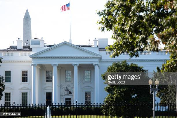 The North Lawn of the White House is seen in Washington, DC, October 2, 2020. - The White House is carrying out contact tracing after President...