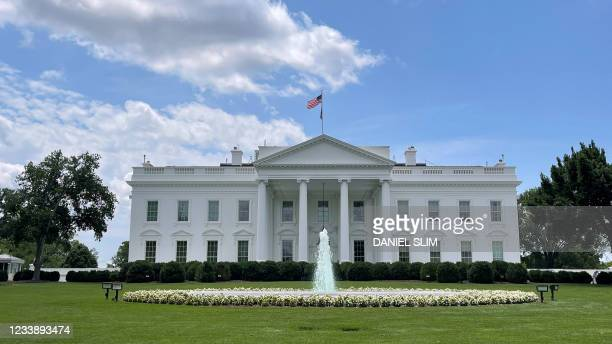 The north lawn of the White House is seen in Washington, DC on July 9, 2021.