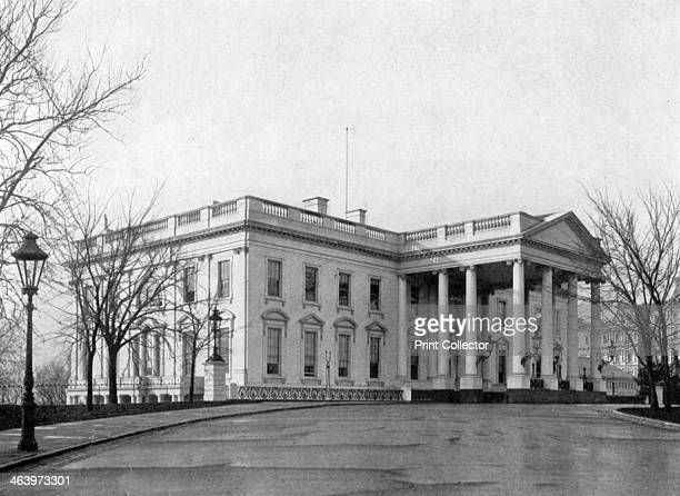 The north portico of the White House Washington DC USA 1908 From The Story of the White House volume I by Esther Singleton published by Hodder and...