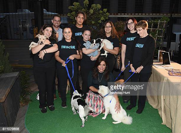 The North Shore Animal League America Team attends the celebration of the launch of Rachael Ray's Nutrish DISH with a Puppy Party on September 28,...
