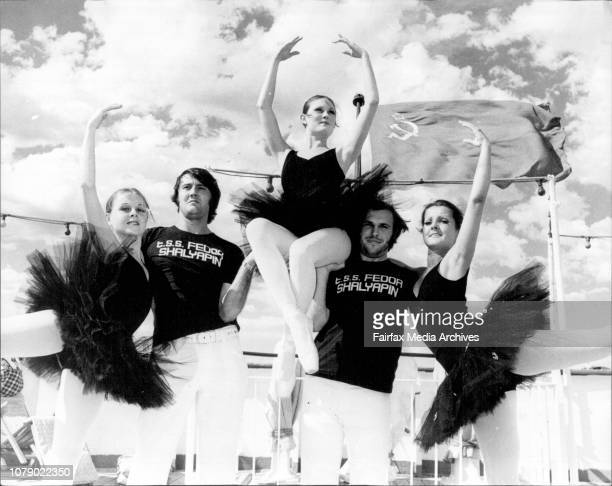 The North side Ballet Company which will entertain passengers on a cruise onboard the Russian Liner Fedor Shalyapin leaving Sydney on Jan 8th 75 till...