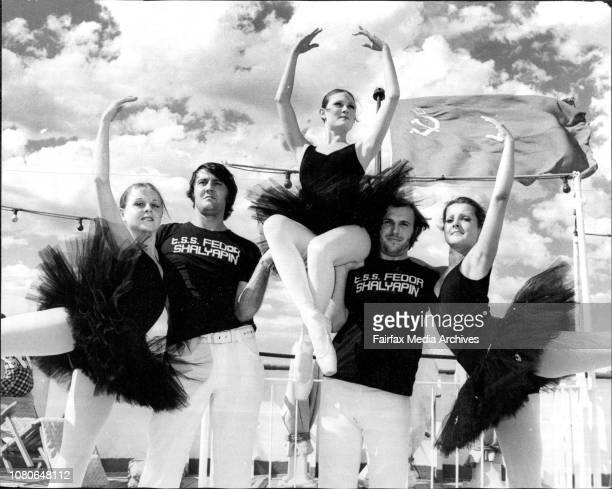 The North Side Ballet Company which will entertain passengers on a cruise onboard the Russian Liner Shalyapin leaving Sydney on Jan 8th 75 till Jan...