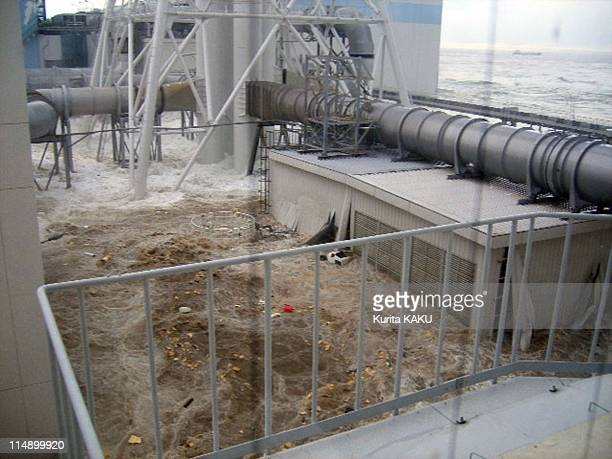 The north side of Radiation Waste Treatment Facility taken from 4th floor in Daiichi on March 11 2011 in Fukushima Prefecture Japan The death toll...
