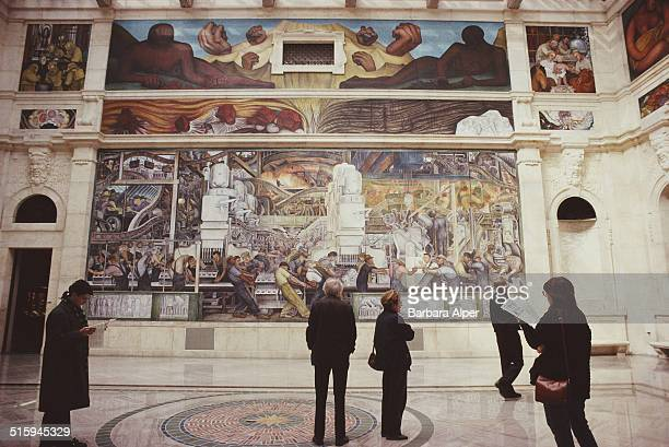 The North Wall of the Detroit Industry Murals a series of frescoes by Mexican artist Diego Rivera at the Detroit Institute of Arts Detroit Michigan...