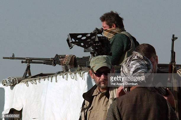 The Northern Alliance And Us Soldiers Are Seen On November 27 2001 In Qalaijangi Afghanistan