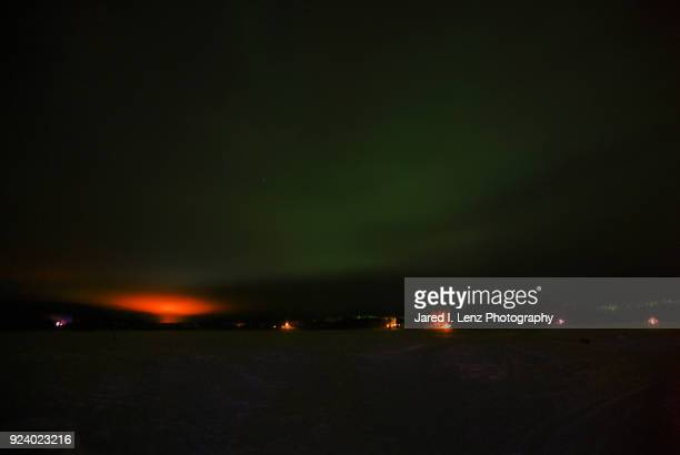 The Northern Lights Glow Green in Finland