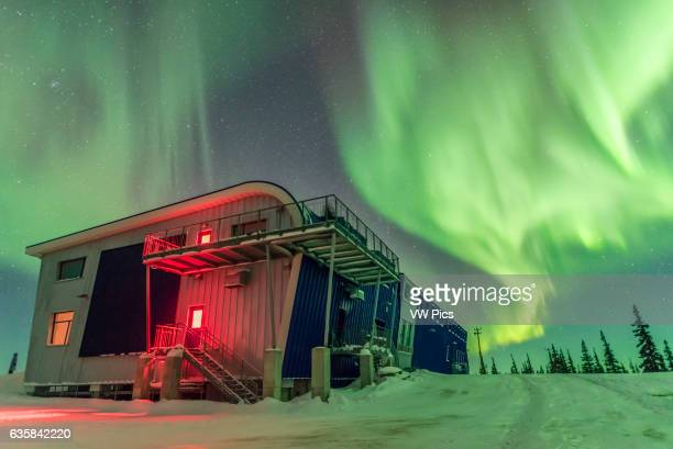 The Northern Lights or aurora borealis on the night of March 4/5 2016 as seen and shot from the Churchill Northern Studies Centre near Churchill...