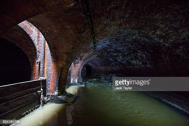 The Northern Outfall Sewer at Wick Lane depot on May 25 2016 in London England The sewer was designed by British engineer Joseph Bazalgette following...