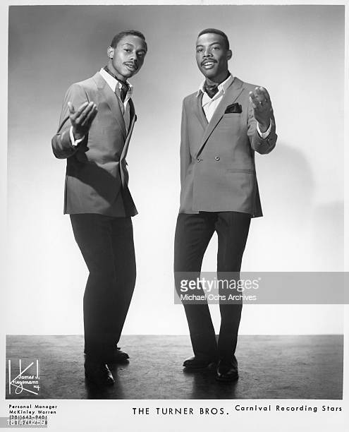 The Northern soul group The Turner Brothers who sang the song My Love Is Yours Tonight pose for a Carnival Records portrait in 1968 in New York New...