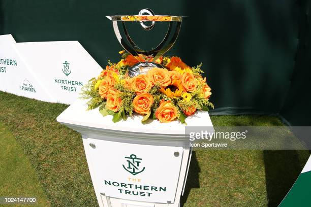 The Northern Trust Champions Trophy on display during the third round of The Northern Trust on August 25, 2018 at the Ridgewood Championship Course...