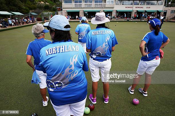 The Northland team compete against Nelson in the finals during the Bowls New Zealand Intercentre at Howick Bowling Club on April 3 2016 in Auckland...