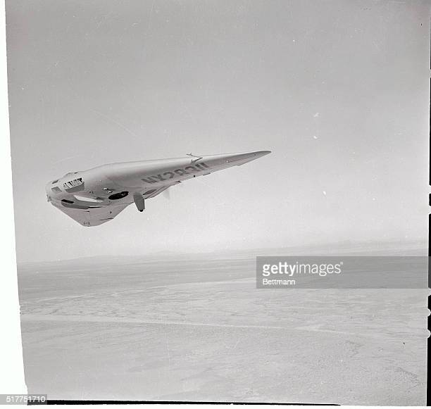 The Northrop Flying Wing over the Mojave Desert during test flights from Rosamond Dry Lake near Lancaster The Wing was designed by John K Northrop...