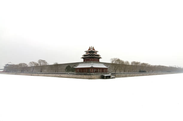 The Northwest Corner of The Forbidden City in Winter. Beijing. China