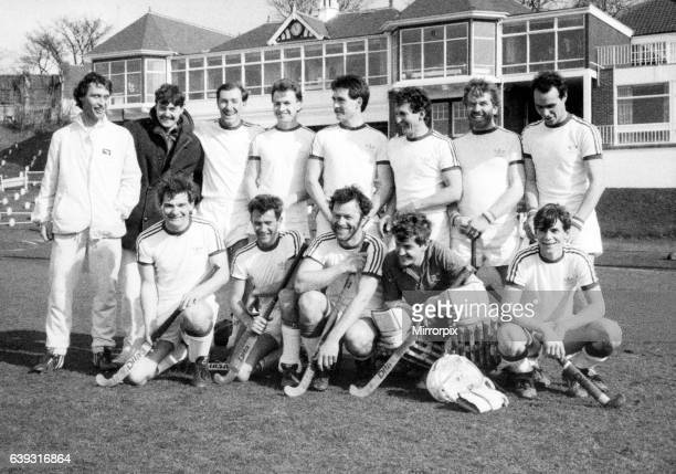 The Norton side which won the Durham and Northumberland Hockey League championship and the Balmer Cup lines up back row L R Nick Dean Paul Bramley...