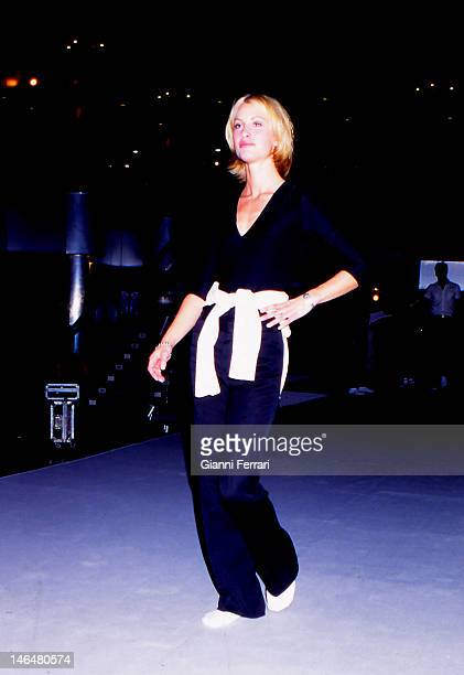 The Norvegian model Eva Sannum former girlfriend of Spanish Prince Felipe de Borbon since 1977 to 2001 during a test of a fashion show Madrid Spain
