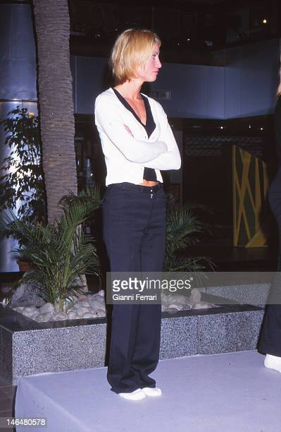 The Norvegian model Eva Sannum, former girlfriend of Spanish Prince Felipe de Borbon since 1977 to 2001, during a test of a fashion show Madrid,...