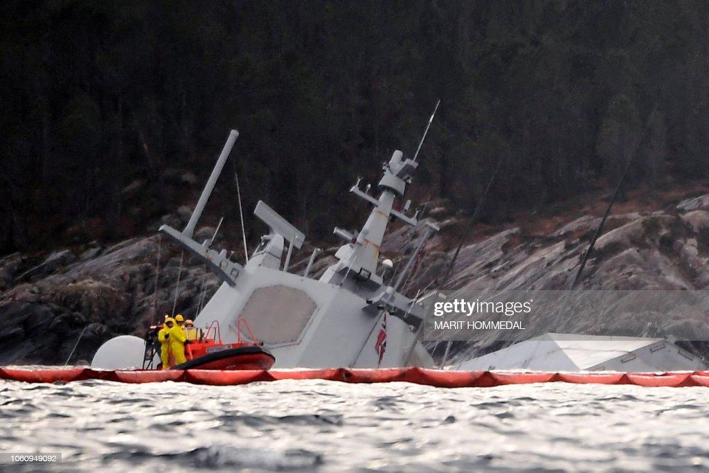 TOPSHOT-NORWAY-NAVY-ACCIDENT : News Photo