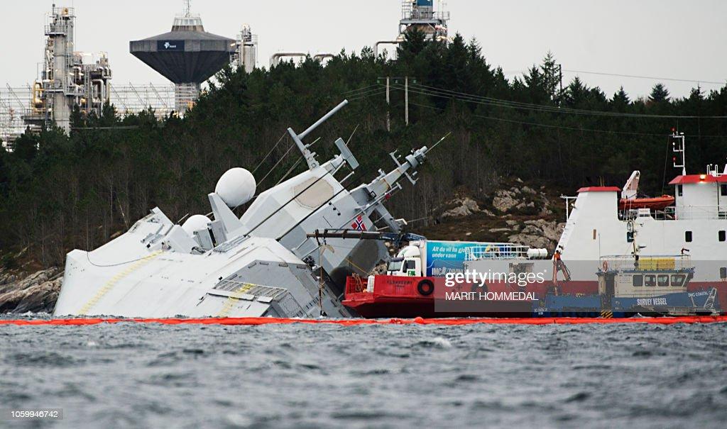 NORWAY-NAVY-ACCIDENT : News Photo