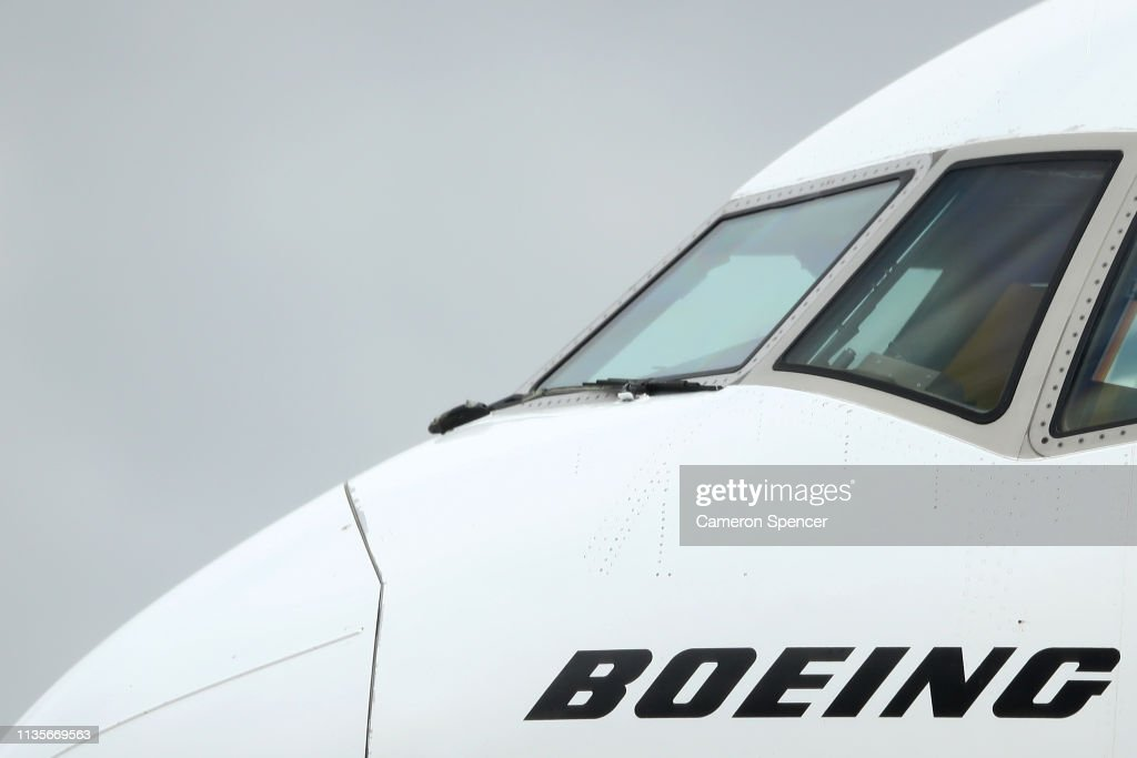 Planes Fly At Sydney Airport As Boeing 737 MAX 8 Operations Are Suspended In Australia : News Photo