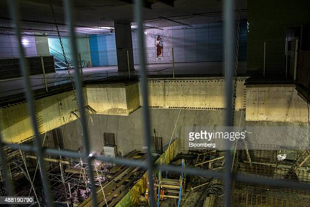 The Nossa Senhora da Paz metro station on the 4 Line of the subway system stands under construction in Rio de Janeiro Brazil on Friday Sept 11 2015...