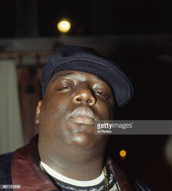 The Notorious BIG aka Biggie Smalls poses for a portrait in 1994 in New York City New York