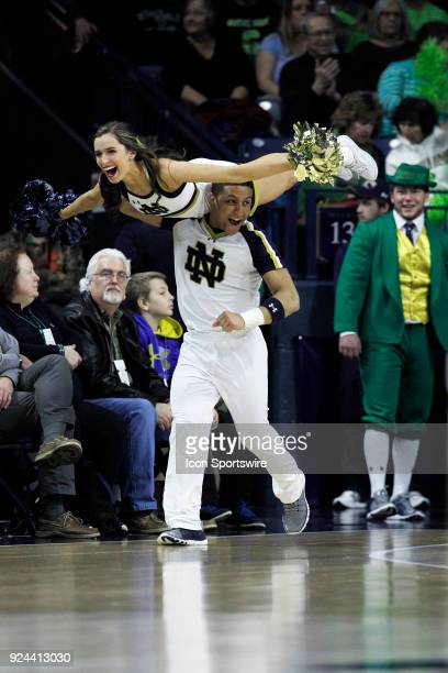 The Notre Dame Fighting Irish cheerleaders perform during the game between the North Carolina State Wolfpack and Notre Dame Fighting Irish on...