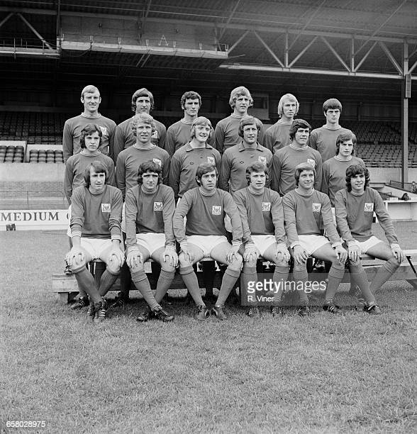 The Nottingham Forest FC team UK 28th July 1971 From left to right John Winfield Paul Richardson Neil Martin John Cottam Liam O'Kane Duncan McKenzie...