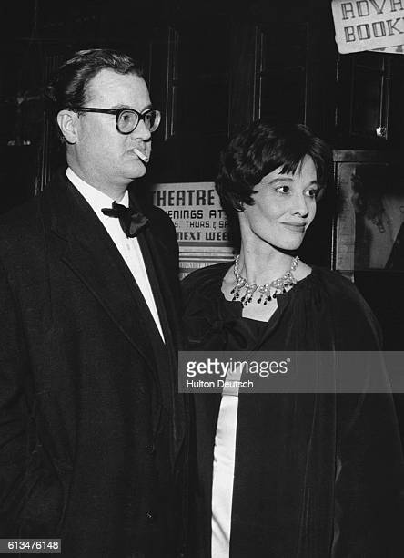 The novelist John Mortimer and his wife at the Theatre Royal London 1960