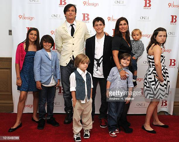 """The Novogratz family attends the """"9 by Design"""" season wrap party at Crosby Street Hotel on June 1, 2010 in New York City."""