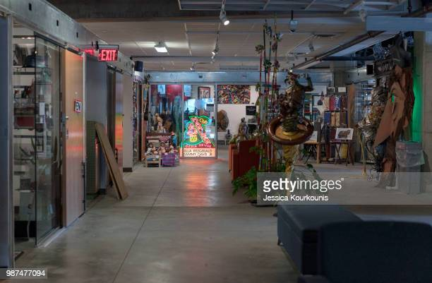 The Noyes Arts Garage of Stockton University is the centerpiece of the new Arts District on June 29 2018 in Atlantic City New Jersey Residents of the...