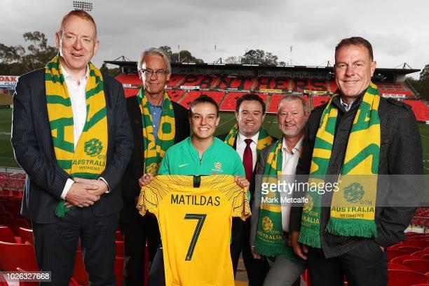 The NSW Minister for Sport Stuart Ayres FFA CEO David Gallop Penrith Mayor Cr John Thain Seven Consulting Managing Director Declan Boylan Westfield...