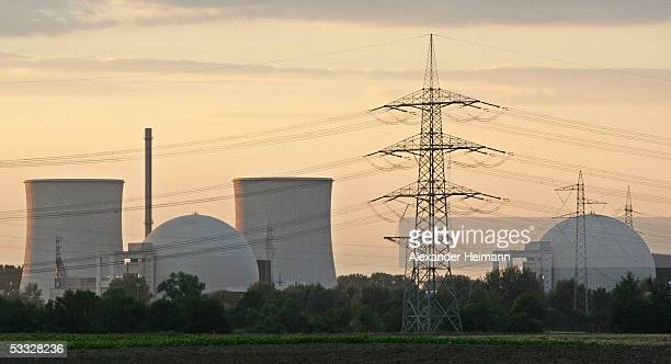 The nuclear power plant of Biblis is during sunset on August 4 2005 in Biblis Germany The ruling Social Democrats the SPD who are in a coalition with...