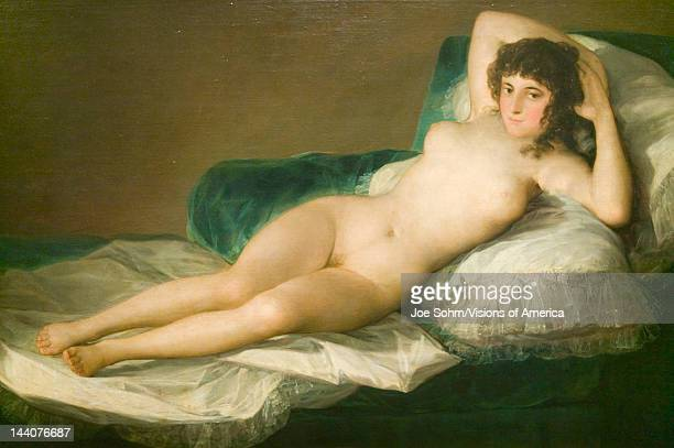 The Nude Maja Duchess of Alba by Francisco de Goya as shown in the Museum de Prado Prado Museum Madrid Spain