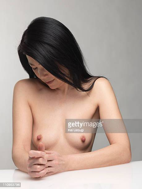 The nude of a mature woman.