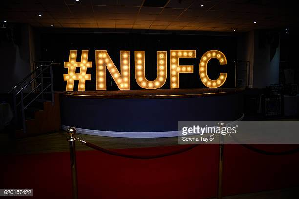 The NUFC hashtag during the Newcastle United Foundation Awards Night at StJames' Park on November 1 2016 in Newcastle upon Tyne England