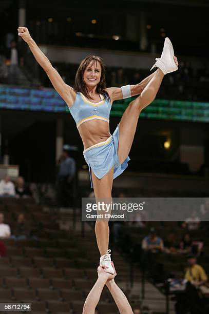 The Nuggets Dancers perform during the Denver Nuggets game against the Boston Celtics on January 2 2006 at the Pepsi Center in Denver Colorado The...