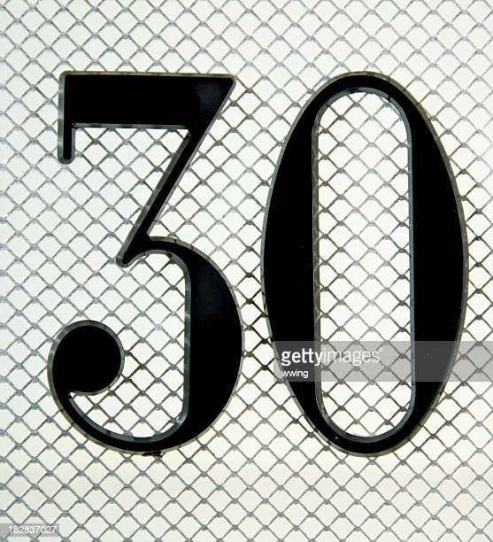 The Number 30 on Mesh