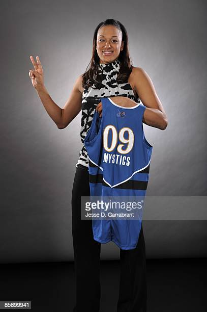 The number two overall pick Marissa Coleman of the Washington Mystics poses for a portrait during the 2009 WNBA Draft on April 9, 2009 in Secaucus,...