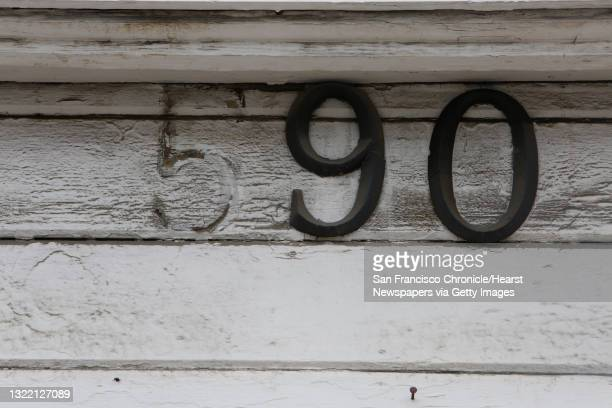 The numbers 90 for the address for the building at 590 Minnesota Street are seen above a doorway on Monday, May 18, 2015 in San Francisco, Calif.